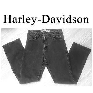 Harley-Davidson Black Denim Biker Jeans Size 10